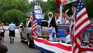 BARS float at Barnstable July 4th Parade 2014