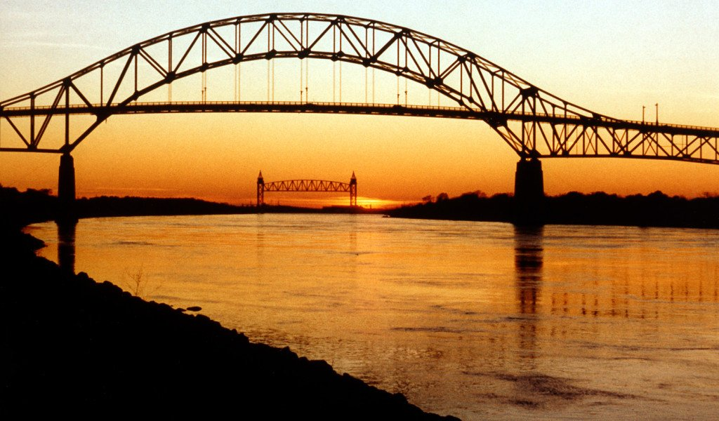 Cape Cod Canal Bourne Bridge and Railroad Bridge