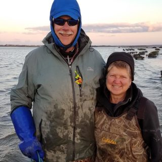 Lenny and Kris Clark on the flats
