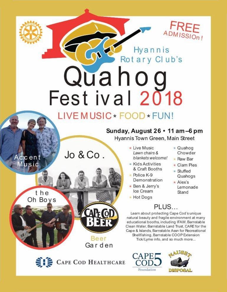 Quahog Festival 2018 poster