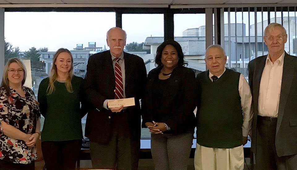 BARS presenting UMass Dartmouth with scholarship check