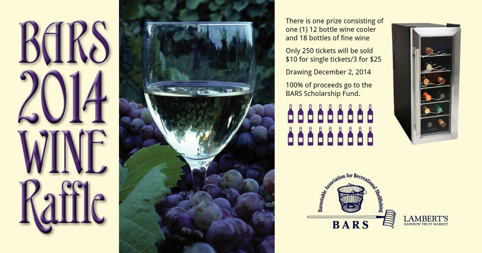 BARS wine and wine cooler raffle