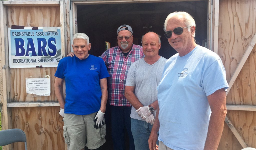 BARS volunteers at the Barnstable Bottle and Can Recycling shed
