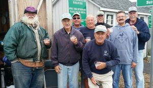 Bob Parsons, George Lloyd, Wayne Lish, Steve Hoxie, Dick Ossen (front), Andy Newman (back), John Ferine, Bill Shumway