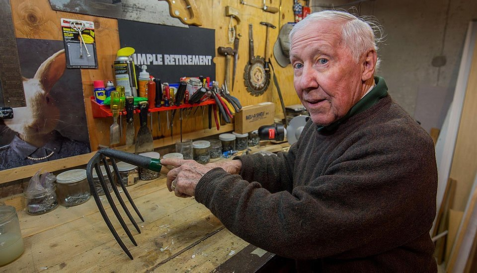 Fred Dempsey is the man for clam rake repairs in Barnstable