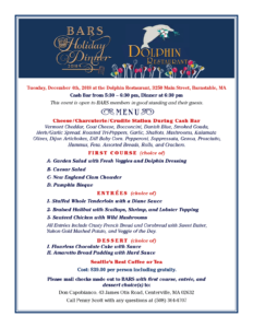 BARS 2018 Holiday Dinner Menu