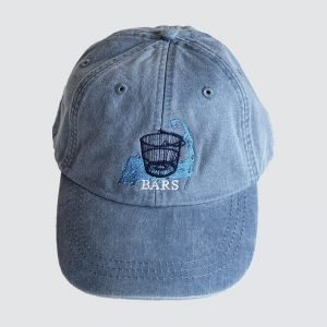 BARS periwinkle hat with new logo