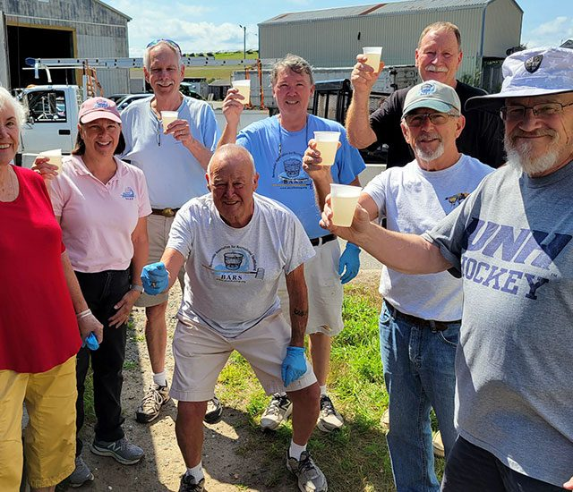 BARS volunteers celebrating last day at the shed for 2021